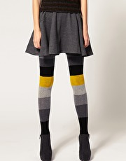 Color block stripe tights from ASOS