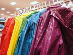 Rainbow of raincoats