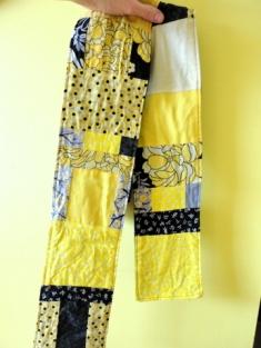 Handmade scarf from kimono show