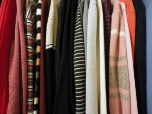 Turtlenecks organized by color
