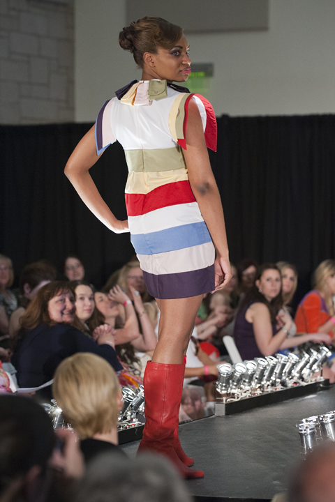 Back view of Ursuline student Jacqueline Hutchinson's creation. How about those boots?! (Photo: Stephen Travarca)