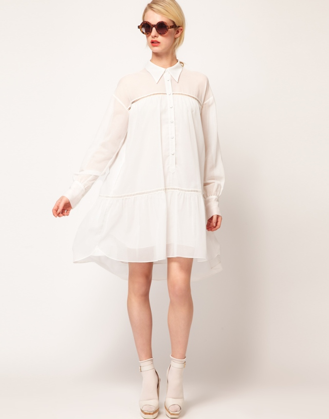 White shirtdress from the NAHM spring collection