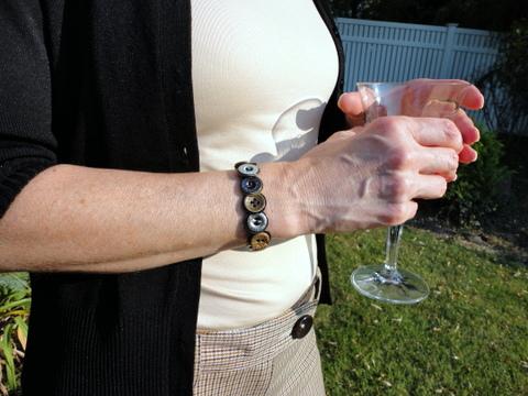 Trouser button bracelet