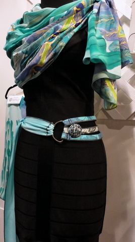 Fabric belt and scarf by R. Levine