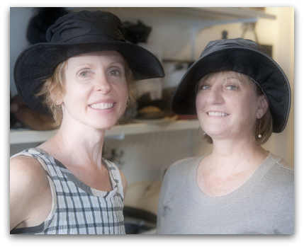 These floppy wide-brim hats are made from jacketing material, perfect for wet fall weather