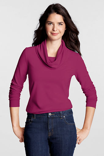 Lands' End cowl tee