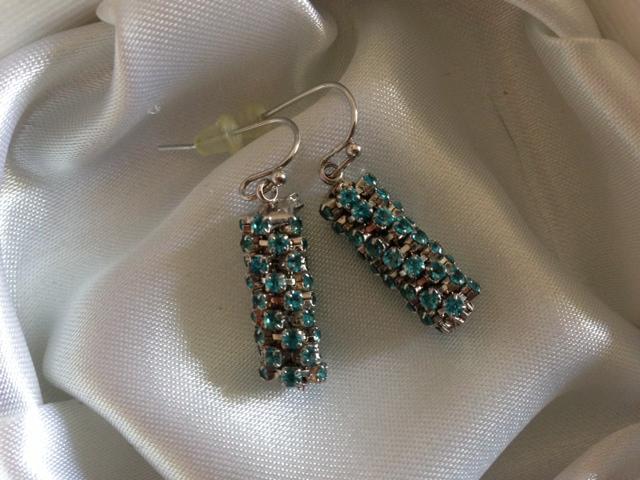 Blue crystal earrings (gift)