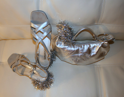 Tin Man's Shoes and Handbag