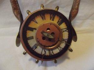 Steampunk clock purse on Etsy