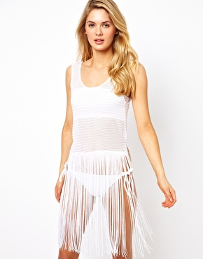 Fringed beach tank dress ASOS