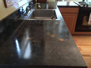 sink from side finished