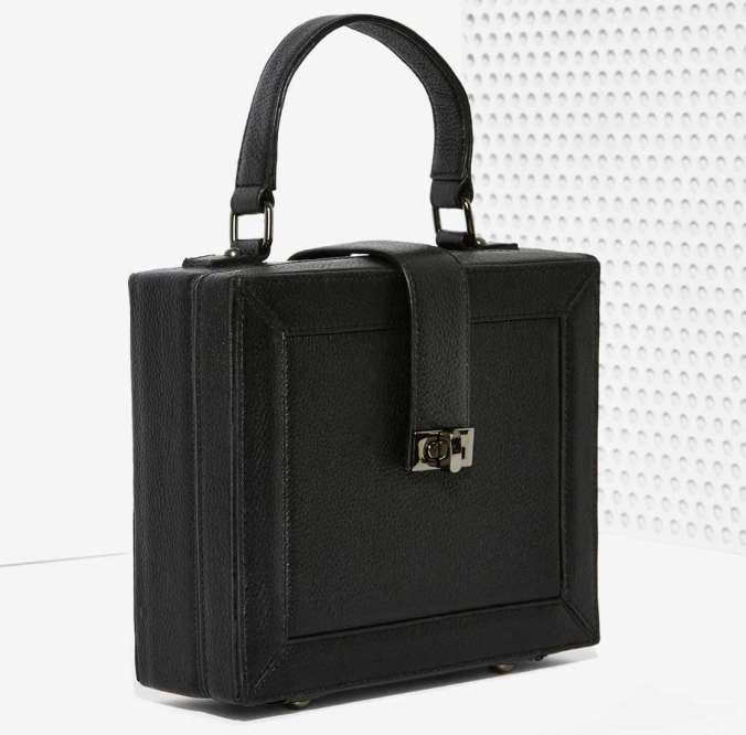 Square bag from Nasty Gal, $99