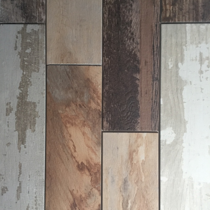 Porcelain tile layout
