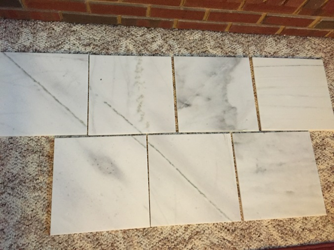marble tile layout