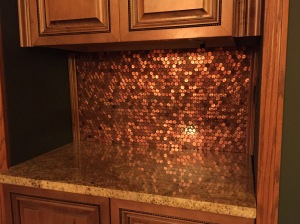by elle - Penny Backsplash Model