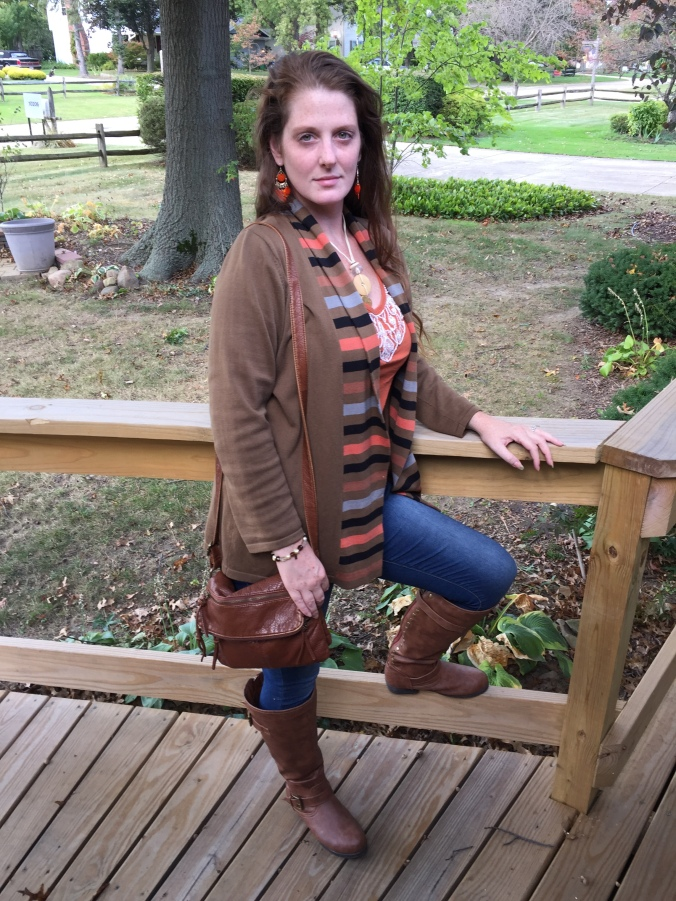 Abby wearing fall outfit