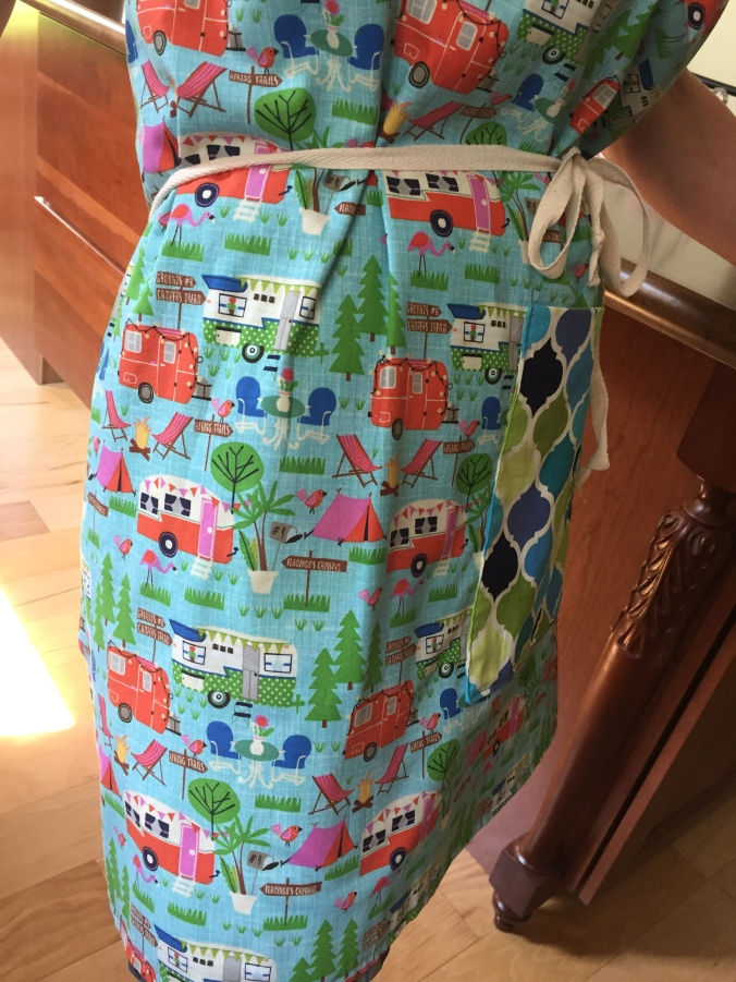 Abby & Elle Upstairs Fashion & Design kitchen reno and retro apron