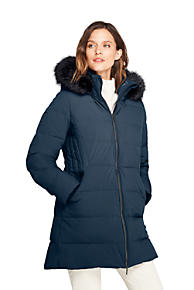 Lands' End Women's Stretch Long Down Coat