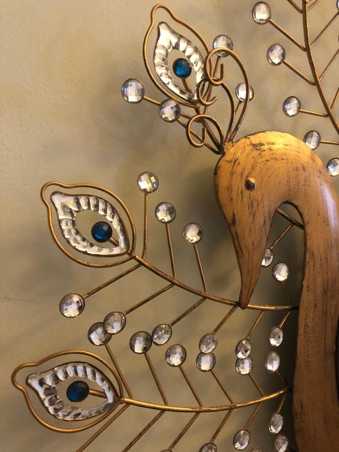 gold peacock mirror